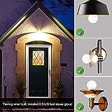 Elrigs E27 LED Lampe mit Bewegungsmelder und Dämmerungssensor, 7W ersetzt 60W, Reichweite, Zeit- und Dämmerungsschwelle einstellbar, Warmweiß (3000K) - 3