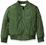 Diesel Little Girls' Outerwear Jacket (More Styles Available), Flight-DS98H-Military Green, 4