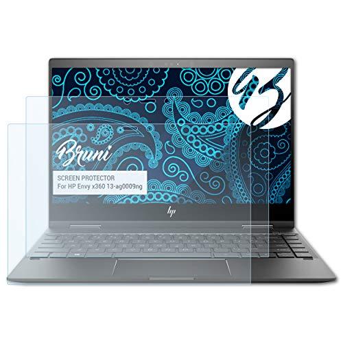 Bruni Schutzfolie kompatibel mit HP Envy x360 13-ag0009ng Folie, glasklare Bildschirmschutzfolie (2X)