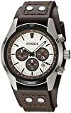 Fossil Men's Coachman Quartz Stainless Steel and Leather Casual Watch...