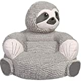 Children's Plush Grey Sloth for Kids and Toddlers