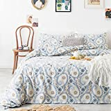 SUSYBAO Bohemian Duvet Cover Set King Size Paisley Bedding Sets 3 Piece 100% Natural Cotton 1 Boho Chic Duvet Cover with Zipper Ties 2 Pillow Cases Luxury Quality Soft Breathable Comfortable Durable