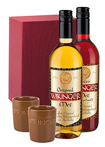Geschenkset Wikinger Punschen 2x0,75l + 2 Met Becher