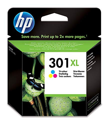 HP 301XL Cartouche d'Encre Trois Couleurs grande capacité Authentique (CH564EE)