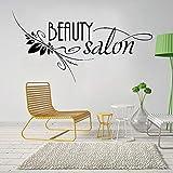 AQjept Salón de Belleza Logo Vinilo Pegatinas de Pared barbería peluquería peluquería Tatuajes de Pared decoración de Ventanas póster Papel tapiz86x44cm