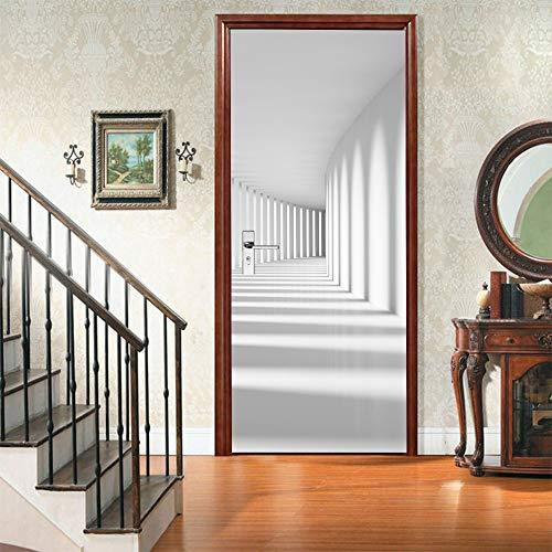 Warreal Protezione Ambientale Creativa Adesivi per Porte del Corridoio di Luci E Ombre 3D Adesivi Murali Autoadesivi per La Ristrutturazione della Camera da Letto