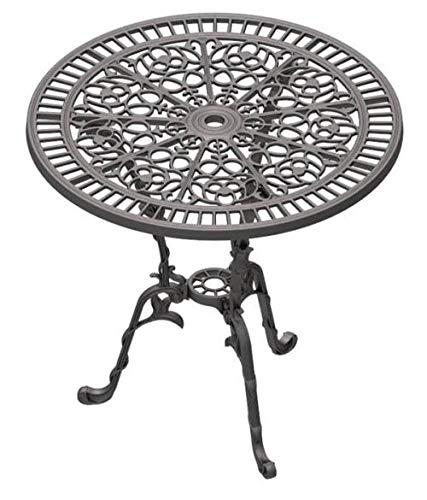 GICOR Tisch Gartentisch Balkontisch Terrassentisch Kaffeetisch rund Gusseisen 75 cm