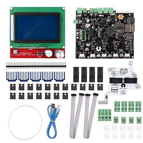 Garsent Smoothieboard 5X V1.0 moederbord voor 3D-printer CNC-freesmachine 32 bit ARM-Cortex M3 microcontroller met 512 kB ROM 64 kB RAM 5 X koellichaam 1X12864LCD1 * USB-kabel