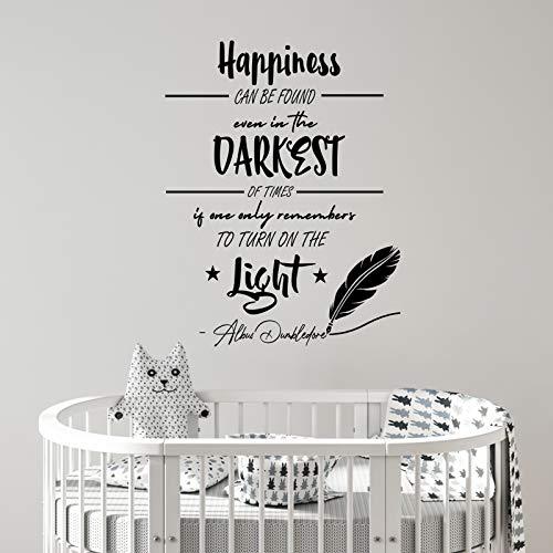 Adesivo da parete con citazione di Harry Potter Happiness Albus Dumbledore (lingua italiana non garantita)