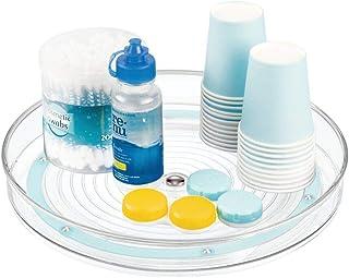 mDesign Rangement Maquillage tournant – Organisateur Maquillage pour cosmétiques et médicaments – Meuble de Rangement Rond...