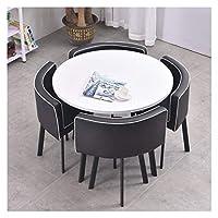 耐久性のあるテーブルと椅子のセット ホームテーブルコーヒーパンデザート表洋食レストランバーダイニングテーブルと椅子コンビネーションバルコニーリビングルームダイニング DYYD (Color : A)