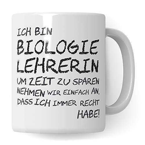 Pagma Druck Biologie Lehrerin Tasse, Geschenk für Biologielehrerin, Kaffeetasse Geschenkidee Bio Lehrer Tasse Biolehrerin lustig, Kaffeebecher Lehramt Schule Abschied Abschluss Witz
