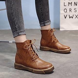 Donyyyy Botas de mujer, el otoño y el invierno, franela, caliente botas, encajes hechos a mano, botas cortas, las mujeres ...