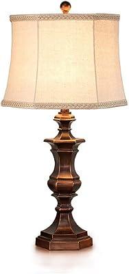 Lampada da Tavolo ZXW- Lampada da Comodino Decorativa da Tavolo in Tessuto per Soggiorno in Stile Moderno di Lusso Americano con Lampada da Tavolo