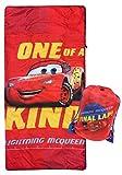 Disney Pixar Cars One of A Kind Slumber Sack - Cozy & Warm Kids Lightweight Slumber Bag/Sleeping Bag - Featuring Lighting McQueen (Official Disney Product)