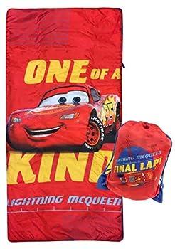 Disney Pixar Cars One of A Kind Slumber Sack - Cozy & Warm Kids Lightweight Slumber Bag/Sleeping Bag - Featuring Lighting McQueen  Official Disney Product
