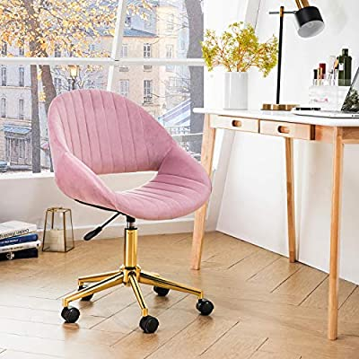 OVIOS Cute Desk Chair,Plush Velvet Office Chair for Home or Office,Modern,Comfortble,Nice Task Chair for Computer Desk. from ovios