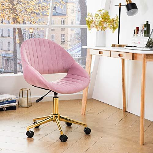 Ovios Plush Velvet Office Chair