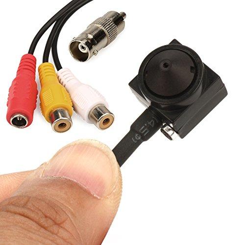 Mini-Überwachungskamera 1000 TVL, HD, mit verstecktem Audio-Pinnloch, Video