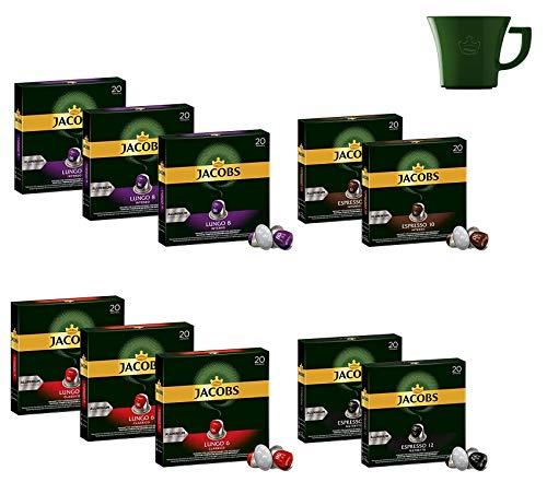 Jacobs Lungo & Espresso Variety Kaffeepads Bundle - Nespresso® * Kompatible Aluminium-Kaffeekapseln - 10 Packungen (200 Pads) 🎅 🎁