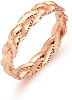 Frodete Vintage Winding Twist Rings Women Ladies Simple Twist Across Rings Engagement Wedding Jewelry Gift