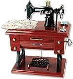 Patty Both Musical Sewing Machine Music Box Vintage Look (Brown 01)