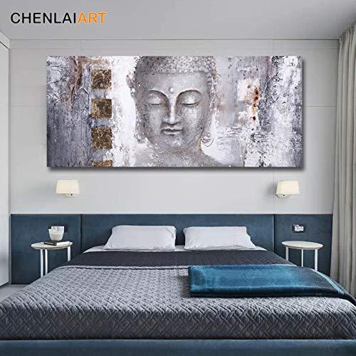 Flduod hoge kwaliteit abstracte Boeddha schilderij Canvas Wall Art Canvas grote moderne Boeddha schilderij voor woonkamer Wall Art Prints Poster50x100cm
