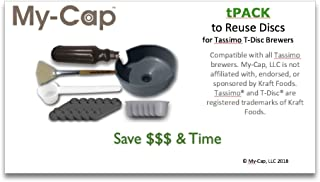 My-Cap tPACK - Complete Solution to Make Your Own Reusable and Refillable Discs for Tassimo T-Disc Coffee Maker Brewers