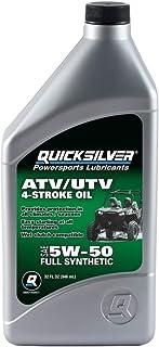 روغن موتور Quicksilver 8M0149407 5W-50 کامل مصنوعی 4 زمانه ATV / UTV - 1 کوارت ، خاکستری