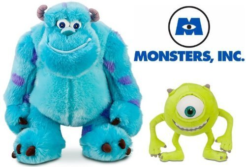 Disney Store Monster's Inc Mike and Sulley Plush Set