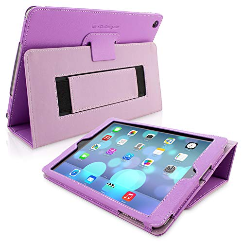 Snugg iPad Air 2 Case Smart Cover with Kick Stand & (Purple Leather) for Apple iPad Air 2 (2014)