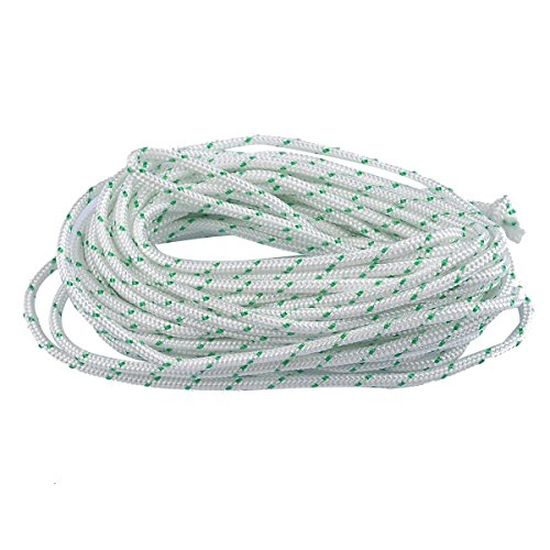 ITACO Made in Germany Recoil Starter Rope 5-Meter 3.5mm O.D Pull Cord for Husqvarna STIHL Sears Craftsman Poulan Briggs Stratton Lawn Mower Chainsaw Trimmer Brush Cutter Engine Parts … -  Mylon, 3.5MM , 16.4FT (5Meters)