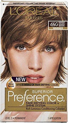 L'Oreal Paris Superior Preference Fade-Defying Color + Shine System 6 1/2 G Lightest Golden Brown/Warmer