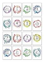 マンスリーカード/月齢カード 「WREATH PATTERNS」 赤ちゃん ベビーカード メッセージカード 誕生日カード 出産祝い 子供 ハガキサイズ おしゃれ
