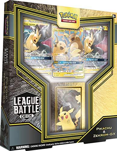 Pokémon TCG: Pikachu & Zekrom GX League Battle Deck | 3 Pokemon-GX | 1 Deck Box | Genuine Cards, Multicolor (728192519239)