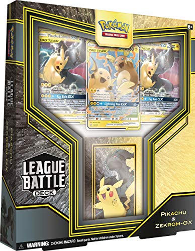 Pokémon TCG: Pikachu & Zekrom GX League Battle Deck | 3 Pokemon-GX | 1 Deck Box | Genuine Cards, Multicolor (728192519239)