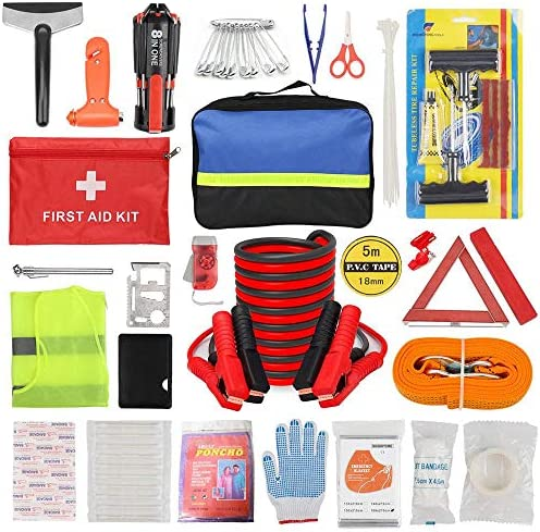 Car Roadside Emergency Kit with Jumper Cables Auto Vehicle Truck Safety Emergency Road Side product image