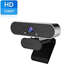 HD Webcam, 1080P PC Webcams with Microphone Fixed Focus Streaming USB Computer Camera for Laptop Desktop Video Calling,Conferencing,Gaming Supports Windows/Mac/Android/Linux System