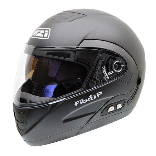 NZI Fibrup PH Motorradhelm, Schwarz Matte, 64 cm