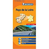 Michelin Map No. 517: Pays de Loire Region (France), Rennes, Angers, Nantes, le Mans and Surrounding Area, Scale 1:200,000 (French Edition)