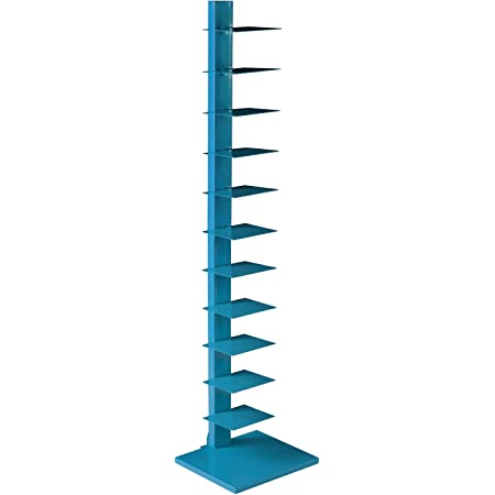 SEI Furniture Metal Spine Book Tower, Blue