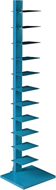 SEI Furniture Metal Book Southern Enterprises Spine Tower Shelf - Bright Cyan, Blue