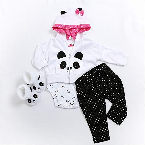 Binxing Toys Reborn Bebé muñeca Ropa para 24 Pulgadas Bebé Reborn muñeca Accesorios para niño y niña (Panda)