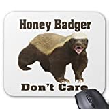Maliyna Honey Badger Don't Care is a cute meme Mouse Pad 9x7 Inch