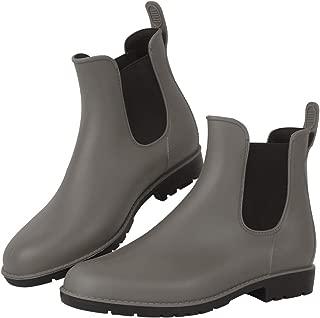 Women's Anti-Slip Rain Boots Short Garden Shoes Waterproof Chelsea Booties