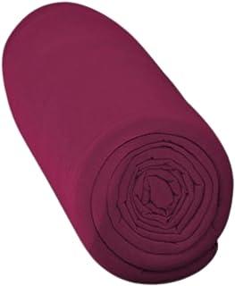 Drap Housse 100% Coton (Bordeaux, 140x190 cm) Grand Bonnet 30 cm 57 Fils - Certification Oeko Tex Standard - 2 Personnes -...