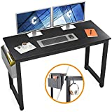 Cubiker Computer Desk 47' Sturdy Office Desk Modern Simple Style Table for Home Office, Notebook Writing Desk with Extra Strong Legs, Black