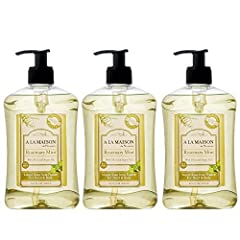 A La Maison Liquid Rosemary Mint soap is traditional french milled soap for hands and body. The relaxing fragrant of mint is a classic pairing for the herbal richness of rosemary. A La Maison products are all high-quality, smooth french triple milled...