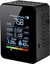 Duotar Medidor Multifuncional de CO2 5 em 1 Medidor Digital de Temperatura Umidade Testador de Dióxido de Carbono Detector...