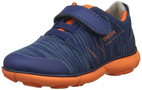 Geox Jungen J Nebula Boy A Sneaker, Blau (Navy/Orange), 31 EU
